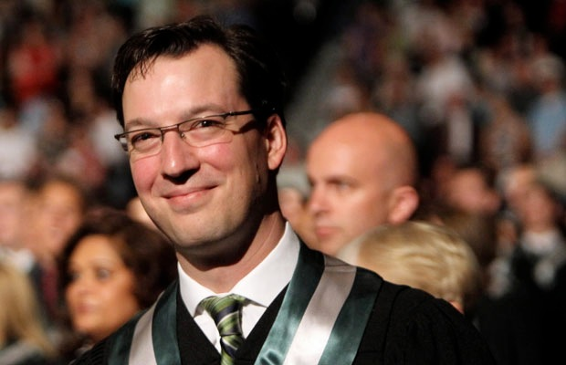 At the 2012 Algonquin College convocation, Scotiabank Place, Ottawa, Ont., 2012