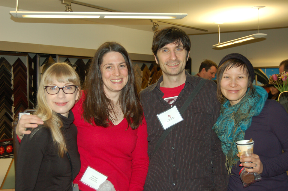 From left: WIDE OPEN photographers Amanda Large and Amanda Sage, Kickass Canadian Henry Smith and his fiancée, Sara