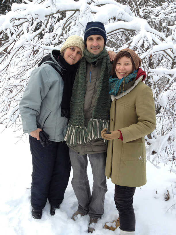 From left: Louise, Henry and his fiancé, Sara, Gatineau, Que., 2012