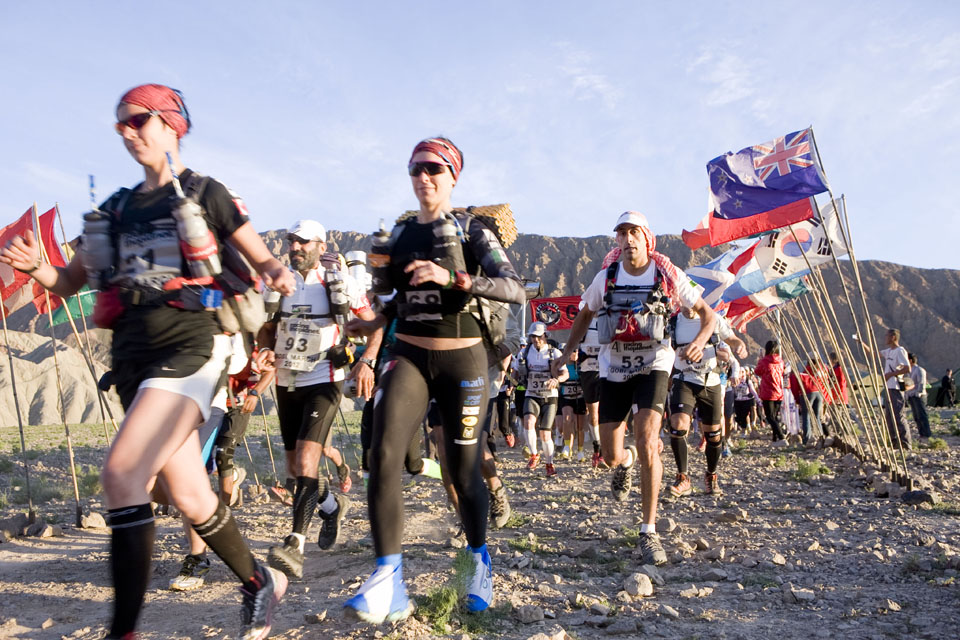At the start of the Gobi March, 2012. Photo courtesy of RacingThePlanet.