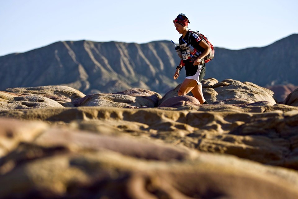 Running the Gobi March, 2012. Photo courtesy of RacingThePlanet.