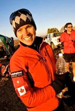 A happy moment during RacingThePlanet: Namibia, 2009. Photo courtesy of RacingThePlanet.
