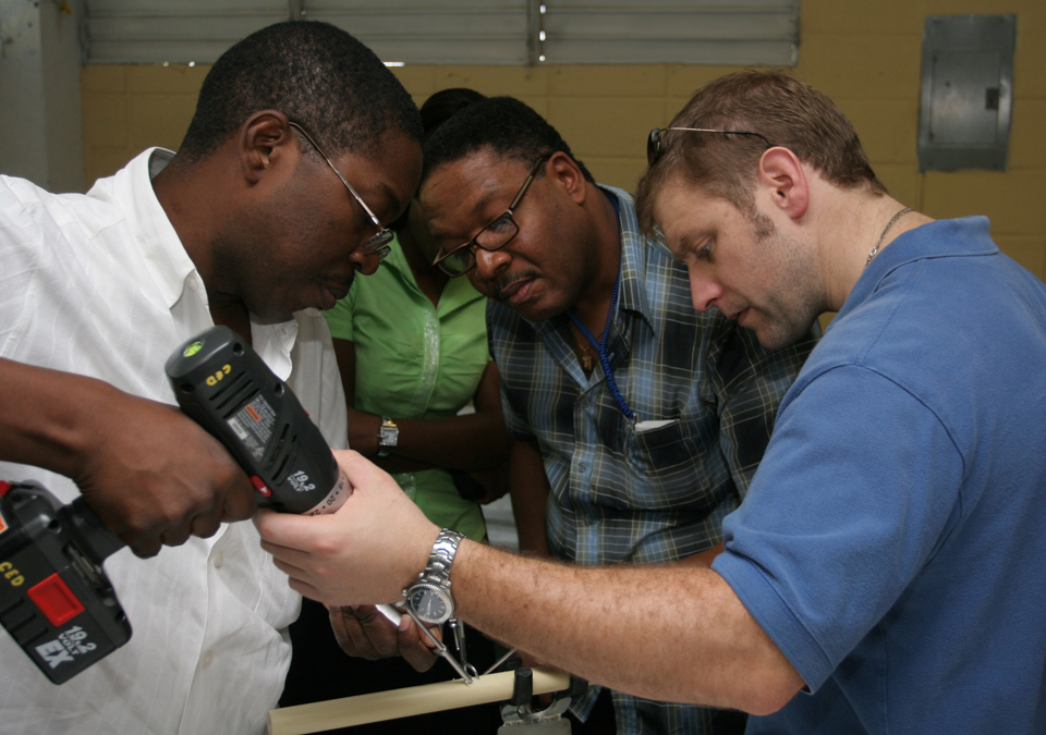 Leading an orthopedic fracture fixture course, Port-au-Prince, Haiti