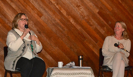 At the Climate Change Discussion Panel with Lisa Barrett, Salt Spring Island, B.C., January 2013