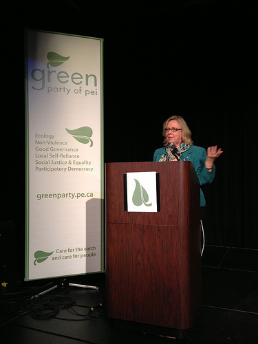 Speaking at the PEI Greens Leadership Convention, November 2012