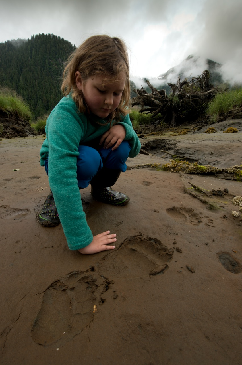 Lucy McAllister in the Great Bear Rainforest