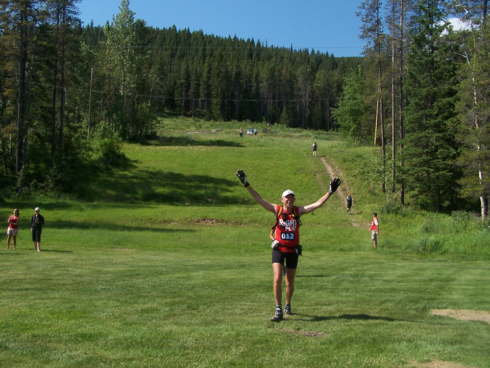 Completing the Sinister 7 Ultra, Crowsnest Pass, B.C., July 2009