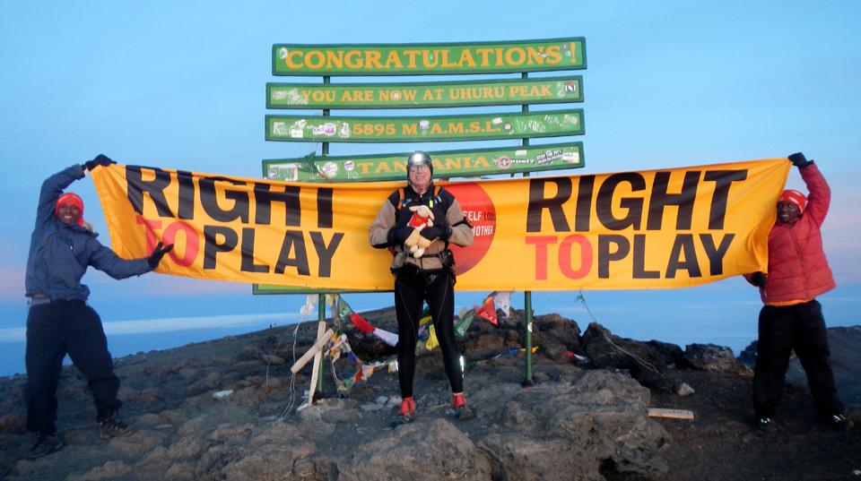 At the top of Mount Kilimanjaro, Tanzania, Africa, 2012