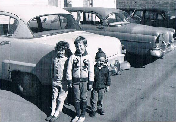 From left: Cynthia, a friend and Mark, Ottawa, Ont., 1964