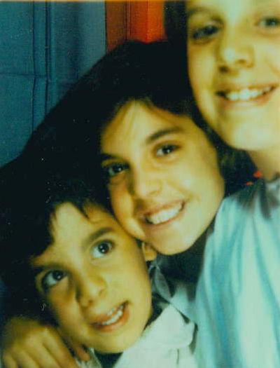 From left: Yiorgos, Eleni and Smaragda