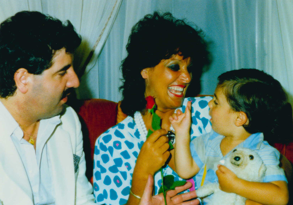 Young Yiorgos with his parents