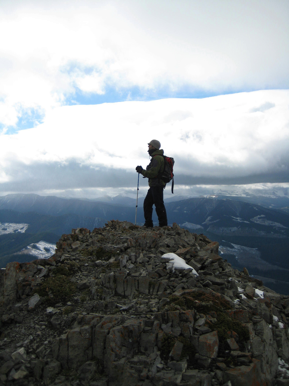 Mount Burke, in the Canadian Rockies, near Calgary, Alta.