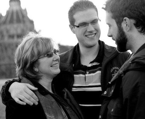 From left: Cynthia, Brandon and Adam, Ottawa, Ont., 2013