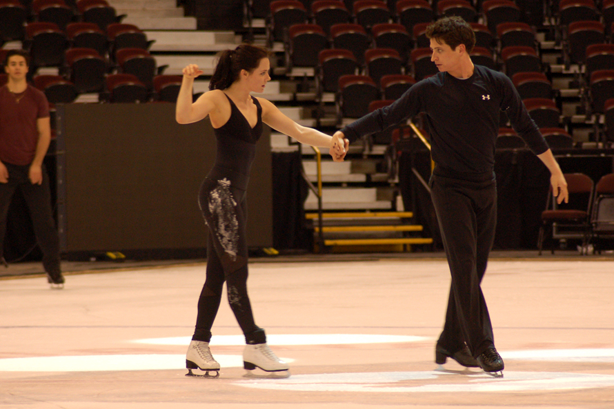 Warming up for Stars on Ice, Ottawa, Ont., April 2014