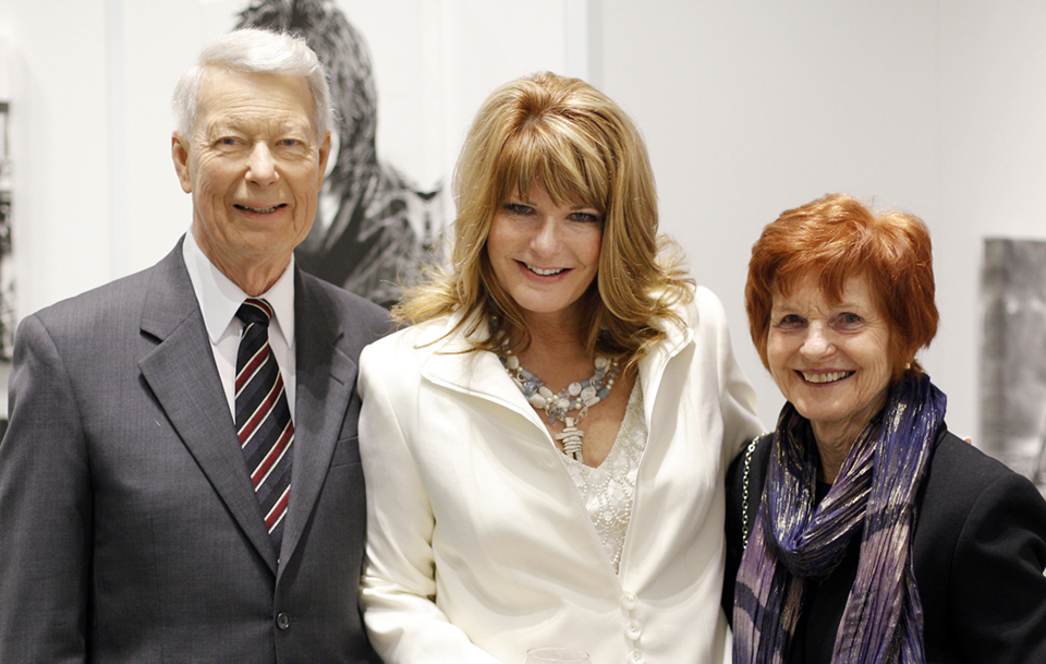 From left: John, Michelle and Betty, at the opening of Michelle's Canadian Museum of Nature exhibit, Ottawa, Ont., March 2011