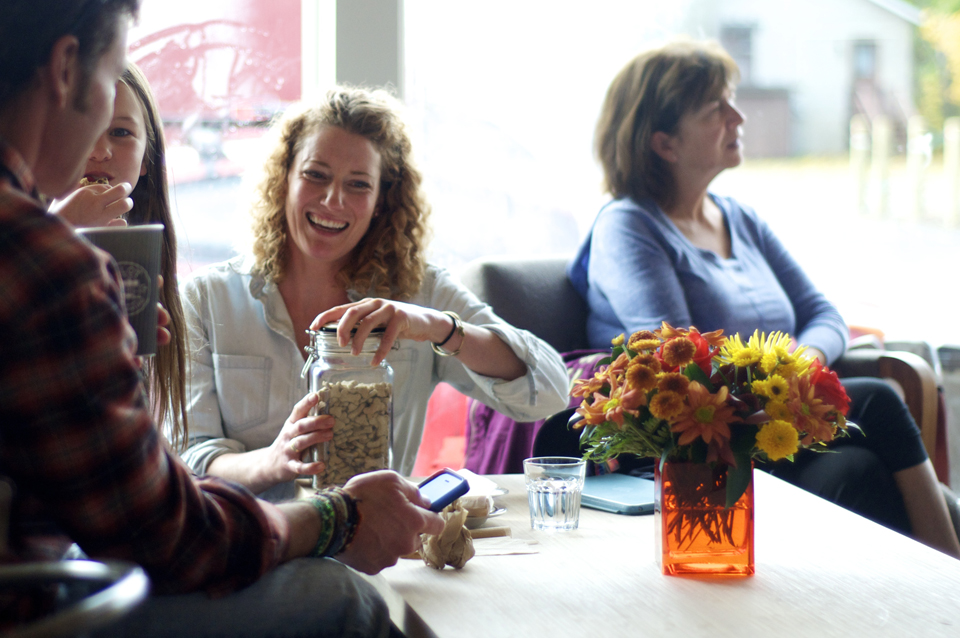 At Quitters Coffee, October 2014; Photo: Jen Ochej