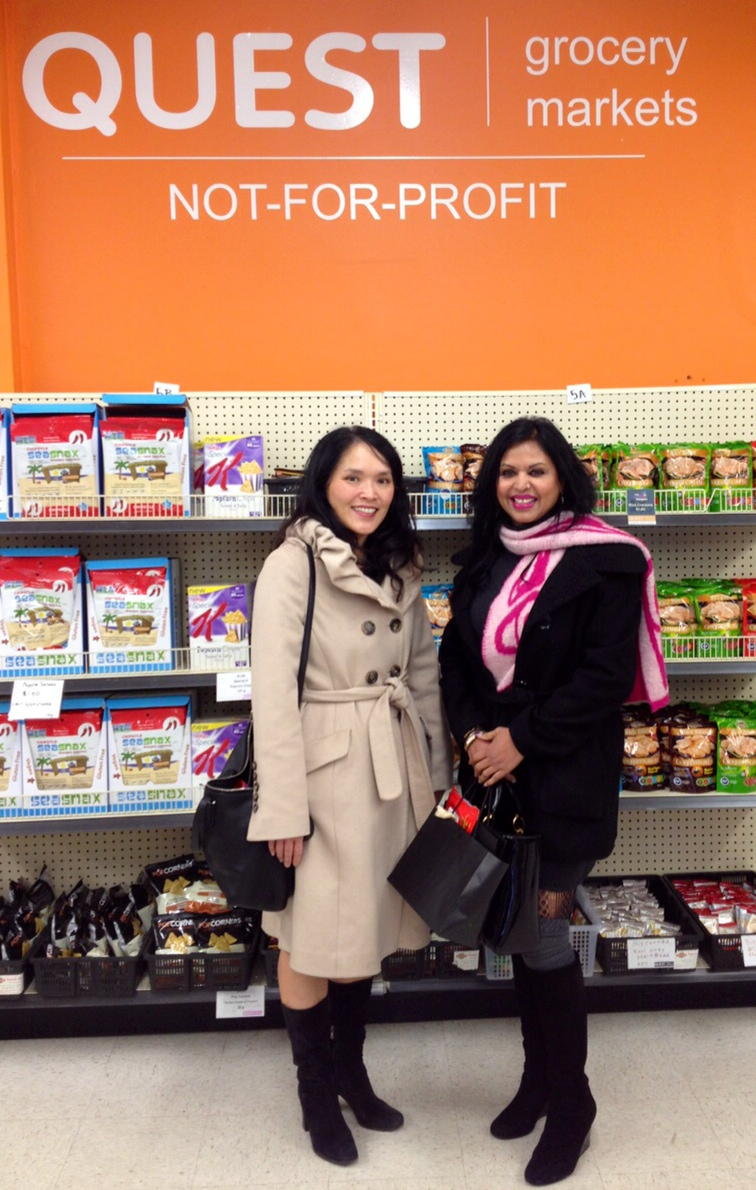 With MLA Jenny Kwan at Quest's 2020 Dundas Street grocery market