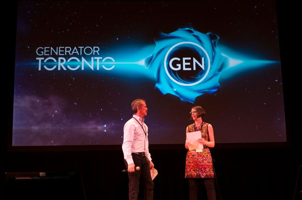 Onstage with Chris at his inaugural Generator, Toronto, Ont., October 2015