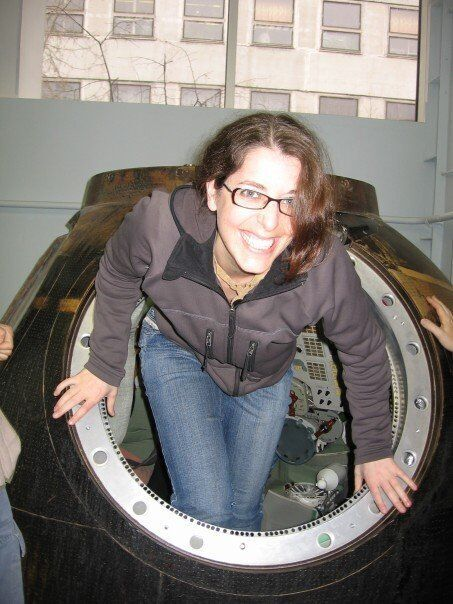 Stepping out of a Soyuz rocket at the International Space University