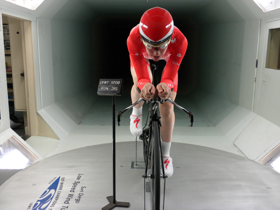 In the wind tunnel testing aerodynamics for 2012 Olympic time trial