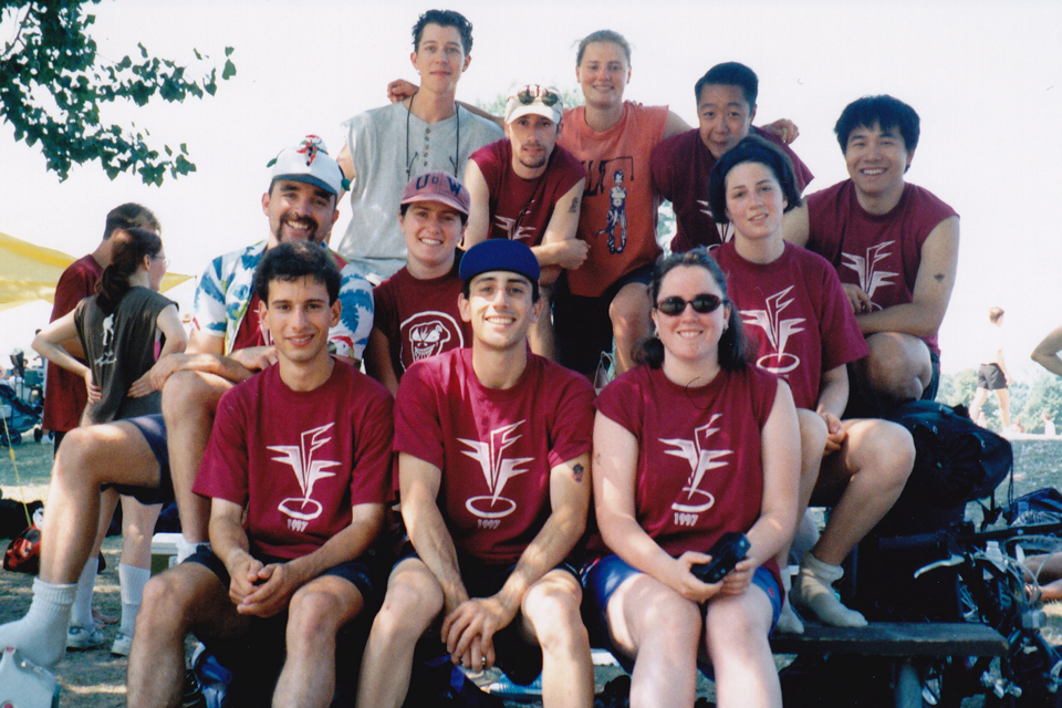 Gavin (middle, left) at the Britannia Beach Tournament, Ottawa, Ont.