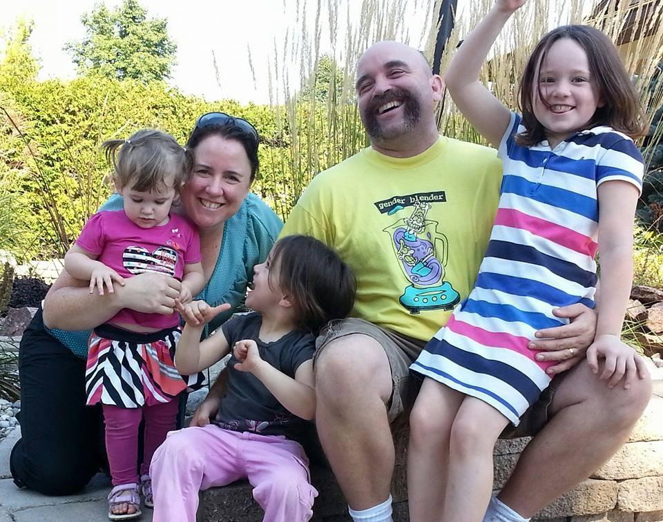 From left: Julie & her daughter Sophie, Sammie, Gavin, Maddie, Ottawa, Ont., 2014