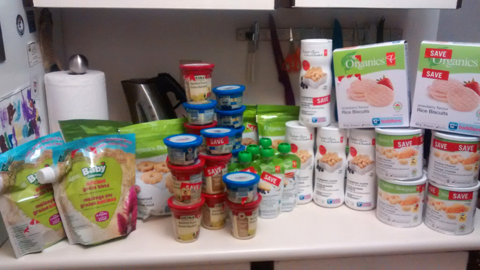 $93.39 worth of baby food, bought by Boom! Savings! for $1.80