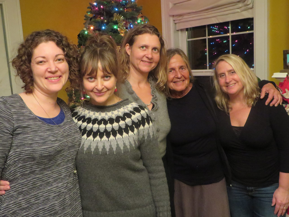 From left: Teva's cousin Tova, Teva, her sister Keira, mother Teri and sister Malu