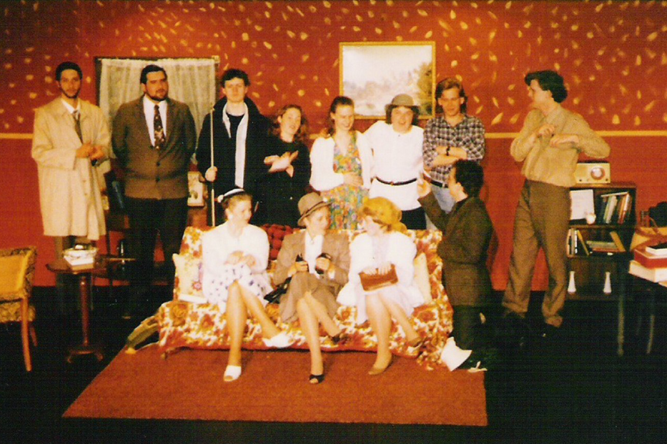"""The cast of Jill's 1989 production of """"The Still Hearth"""""""