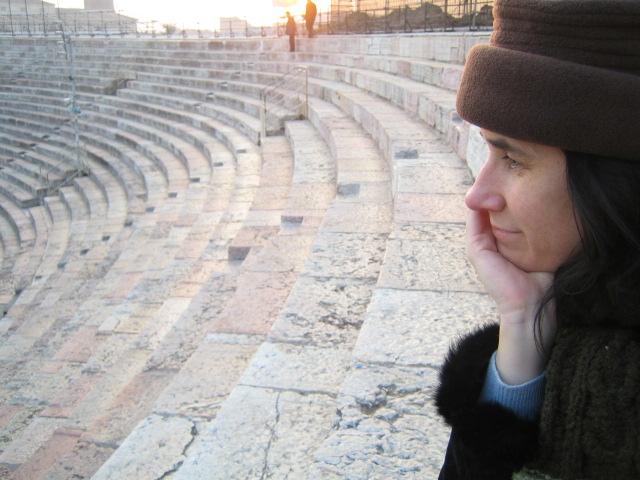 At the Verona Arena Amphitheatre