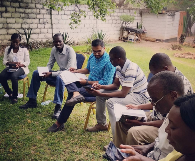 Training a team of enumerators in Lusaka, Zambia, 2015