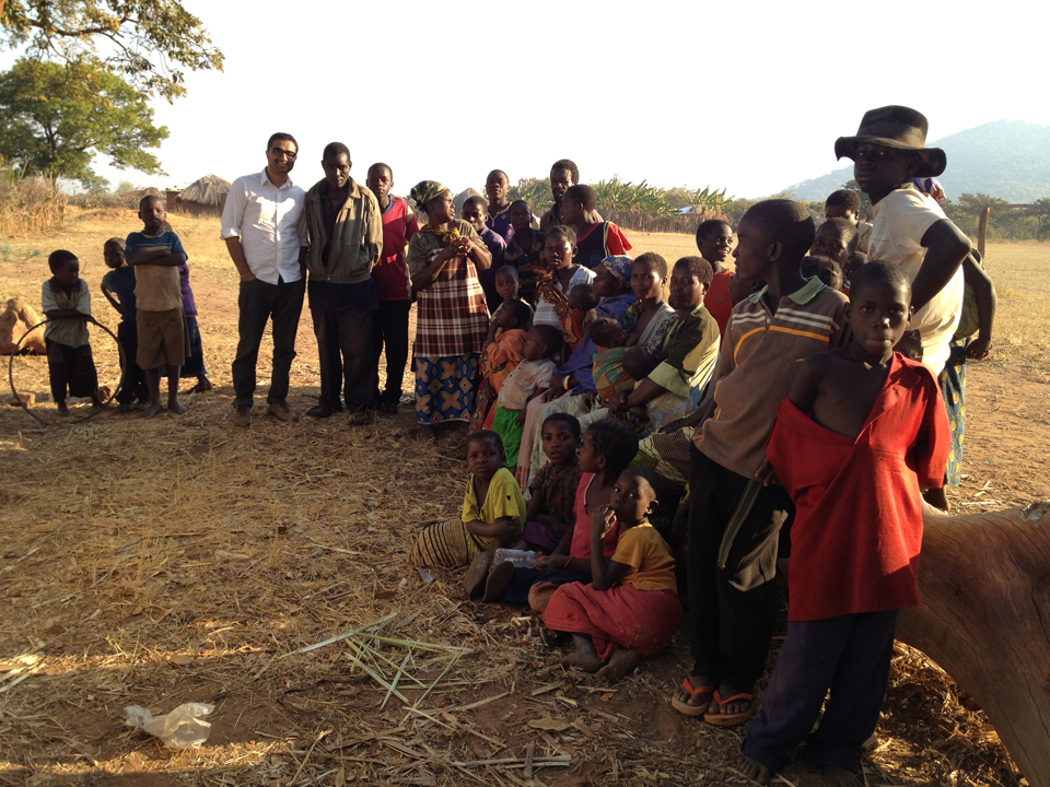 Working with community members in Katete District, Zambia, 2012