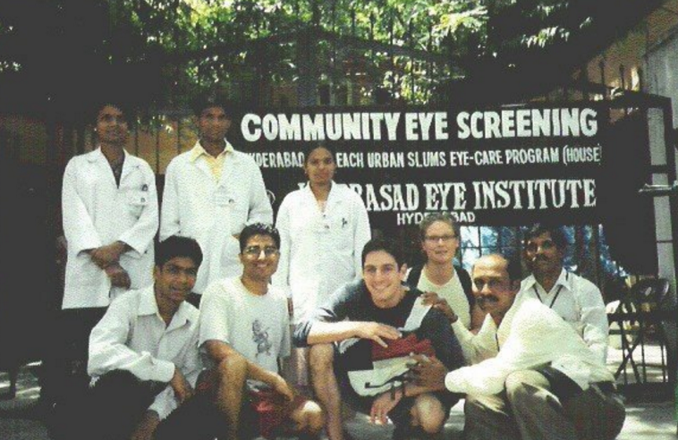 Rohit on the LVPEI internship, Hyderabad, India 2004